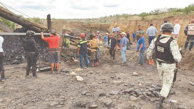 Derrumbe en mina de Ocampo