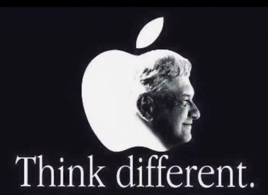 Morena plagia a Apple con rostro de AMLO