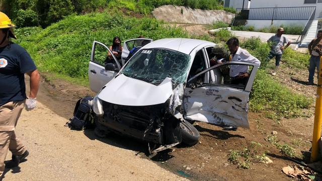 Taxi choque en Punta de Mita