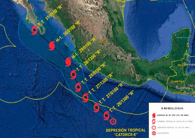Alertan autoridades navales sobre trayectoria de ciclón