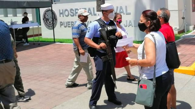 El Hospital Naval ha funcionado en todas las jornadas de vacunación