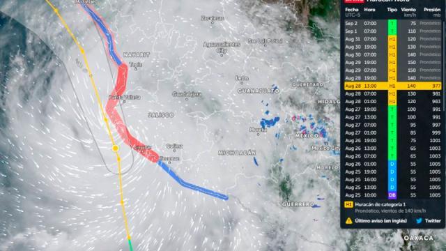Nora pegará en Cabo Corrientes; Vallarta sufrirá efectos