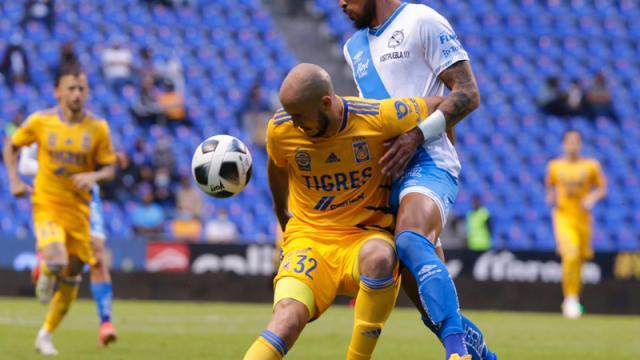 Tigres y Puebla firman el empate a 1-1 en el Cuauhtémoc