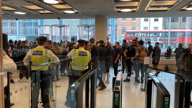 Manifestación de antivacunas en Londres