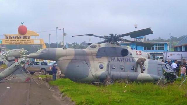 En Hidalgo cae helicóptero donde viajaba Éric Cisneros