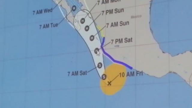 Dejará Nora fuertes tormentas en Vallarta