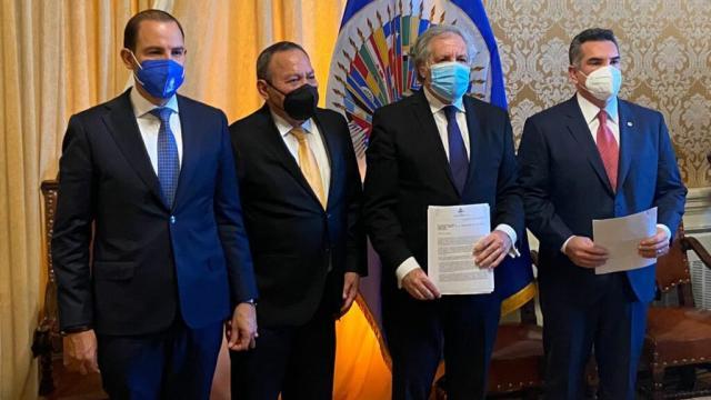 PRI, PAN y PRD denuncian en la OEA narcoelección