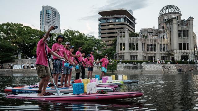 Conmemoración de los 76 años de la bomba de Hiroshima