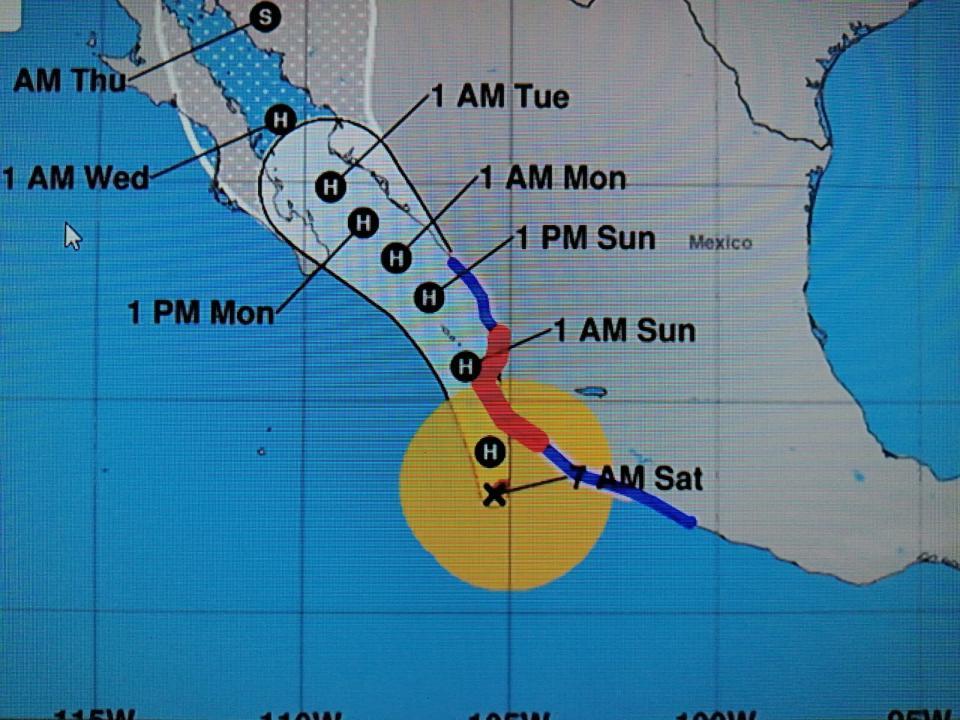 Huracán nora sábado 28 de agosto