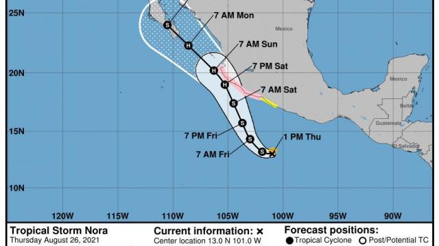 Huracán Nora amenaza a Jalisco y BCS