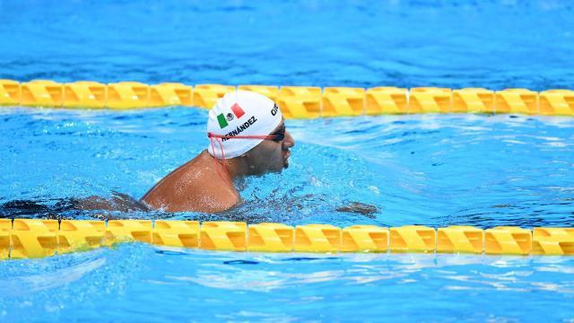 Jesús Hernández en natación