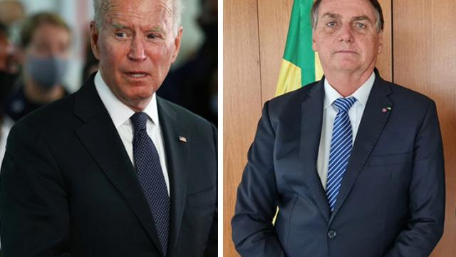 Jair Bolsonaro y Joe Biden