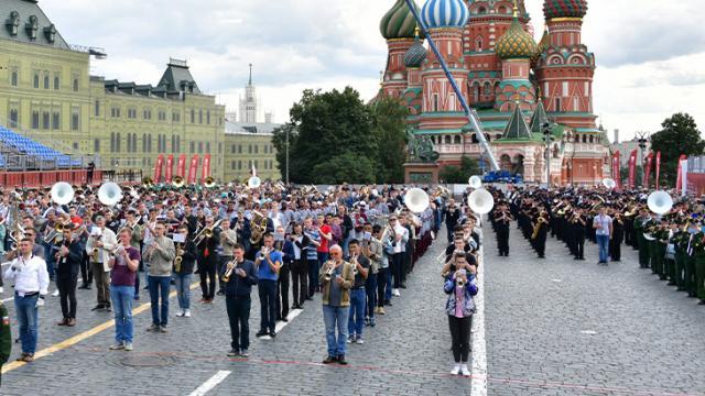 """Personal del #EjércitoMexicano y la #FuerzaAéreaMx durante las practicas del festival internacional """"Spasskaya Tower 2021"""", #Moscú #Rusia."""