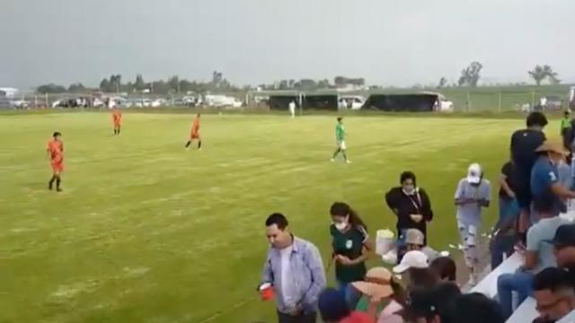 balacera en pleno partido de fútbol