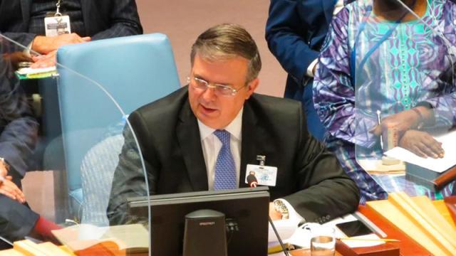 Llama Ebrard a no evadir tema de cambio climático en la ONU