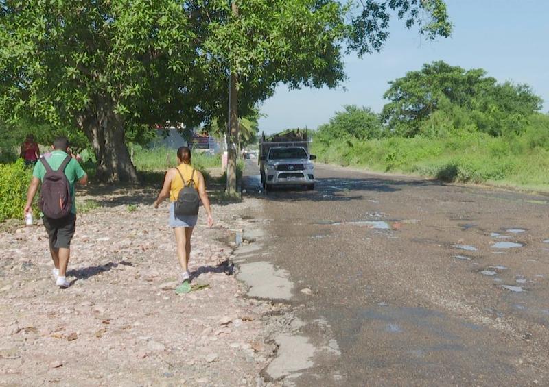 Destruida e intransitable avenida Guadalajara