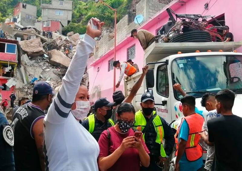Reportan un muerto y 10 personas desaparecidas tras derrumbe