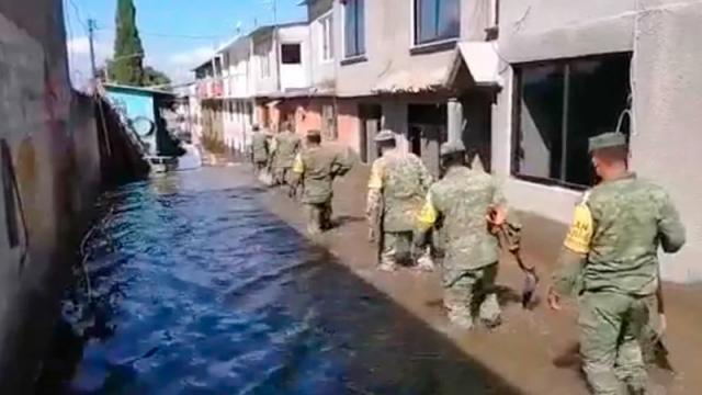 Comienza limpieza en municipios afectados por inundaciones en Hidalgo