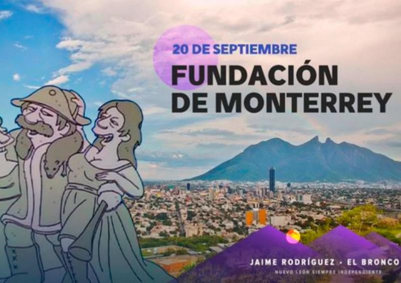 """Conmemoran fundación de Monterrey con imagen de """"Los Simpson"""""""