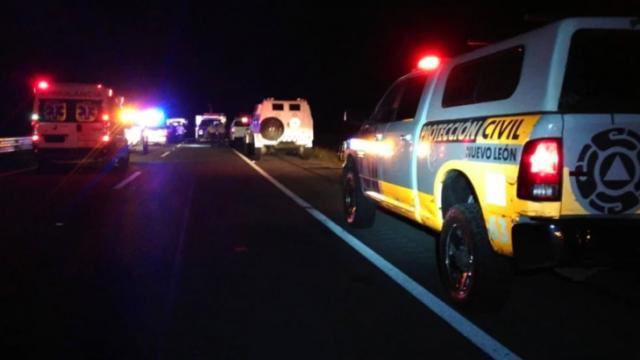 Accidente en el kilómetro 143 de la autopista Monterrey-Reynosa