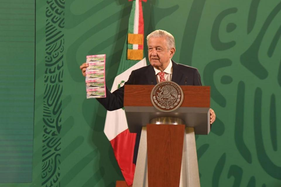 Este martes 14 de septiembre de 2021, en conferencia matutina desde Palacio Nacional, Andrés Manuel López Obrador, presidente de México.