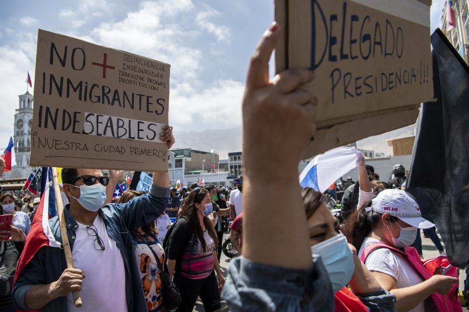 "A ONU le preocupa la ""xenofobia"" contra migrantes en Chile"