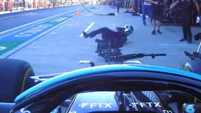 Hamilton atropella mecánico