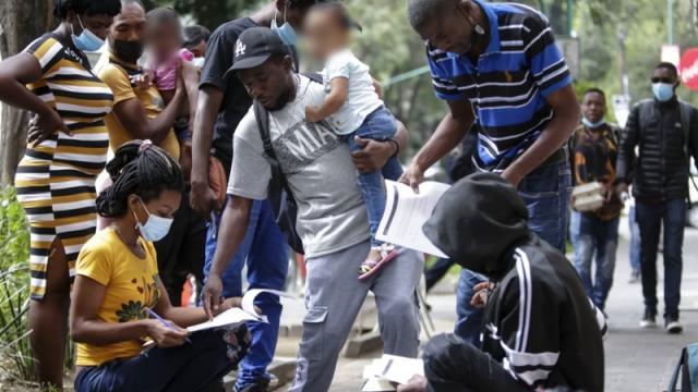 Llegan migrantes haitianos a México
