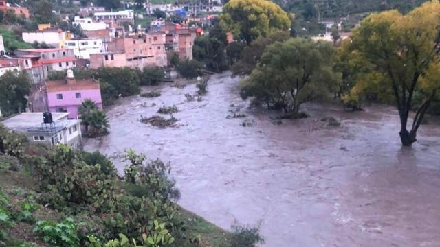 Desbordamiento de la presa Zacatecas