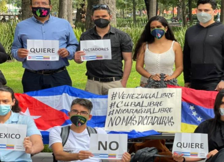 Protesta contra Cuba y Venezuela