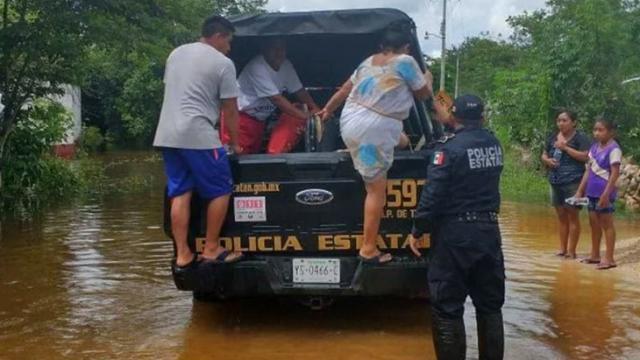 Inundaciones en Yucatán