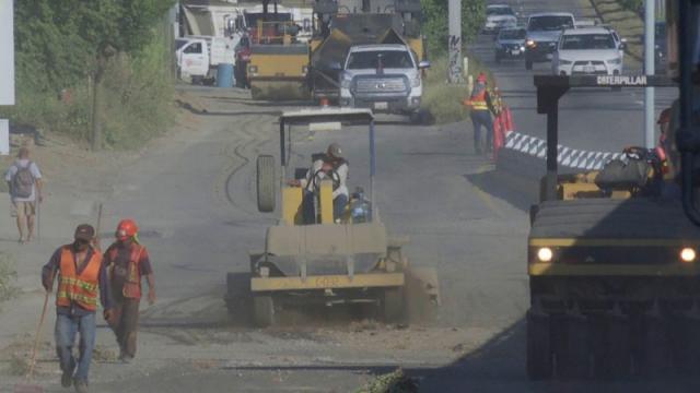 Los trabajos de bacheo en Bahía de Banderas avanzan