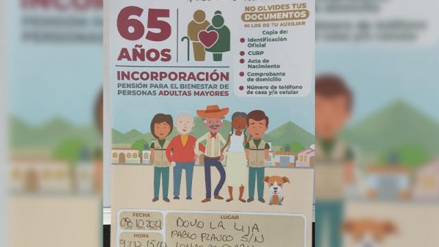 Inscripciones para pensión de adultos mayores