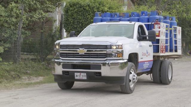 Camioneta de gas