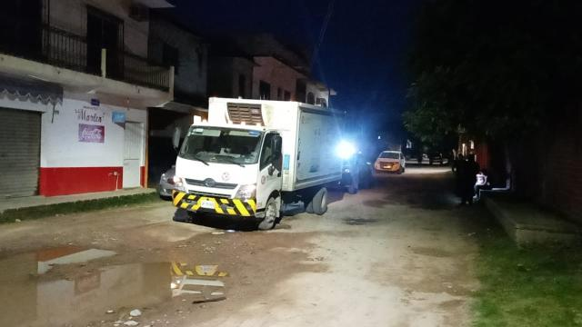 Roban camión de leche