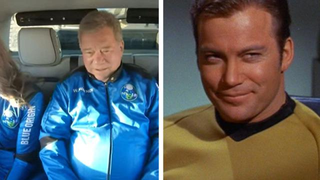 """William Shatner, actor que dio vida al """"capitán Kirk"""" en Star Strek"""